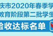 公布!肇庆市2020年春季学期基础教育阶段第二批学生返校验收达标名单