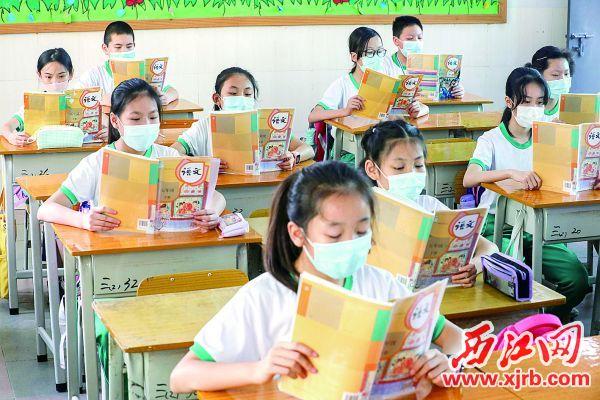 摄 肇庆市第十五小学加大学生上课间隔。 西江日报记者 曹笑 摄