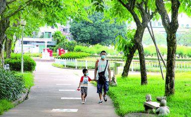 端州部分公园重开 市民有序入园游玩