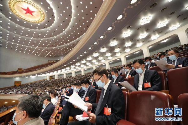 5月22日,第十三届全国人民代表大会第三次会议在北京人民大会堂开幕。这是全国政协委员列席大会。 新华社记者 刘卫兵 摄