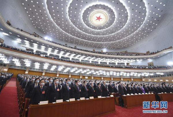 5月22日,第十三届全国人民代表大会第三次会议在北京人民大会堂开幕。 新华社记者 谢环驰 摄