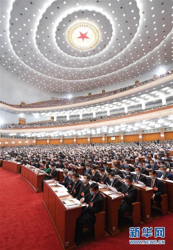 5月22日,第十三届全国人民代表大会第三次会议在北京人民大会堂开幕。 新华社记者 申宏 摄