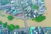 昨晨贺江洪峰安全过境南丰 录得最高水位超37米