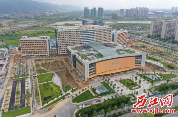 肇庆新区中山三院项目建设进入尾声