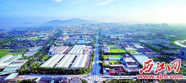 廠房林立、氣勢恢宏的肇慶高新區。