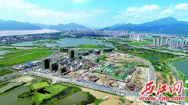 正在抓緊建設的灣區西部華僑城。