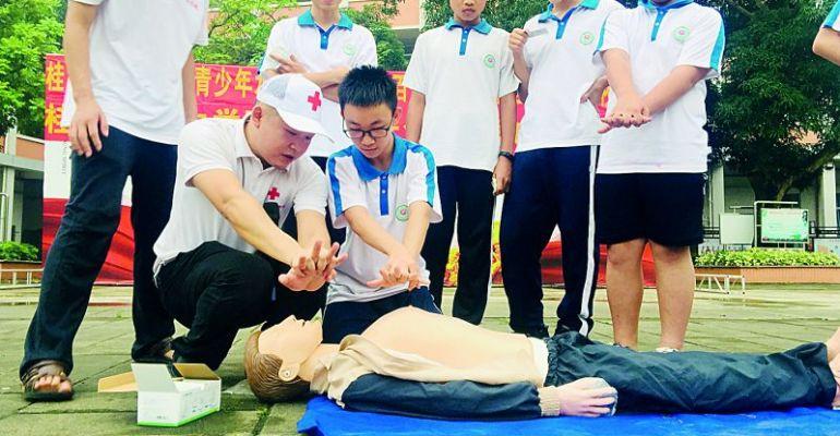 肇慶市紅十字會應急救護培訓中心講師伍靖講述防溺知識 遇見有人溺水如何科學施救