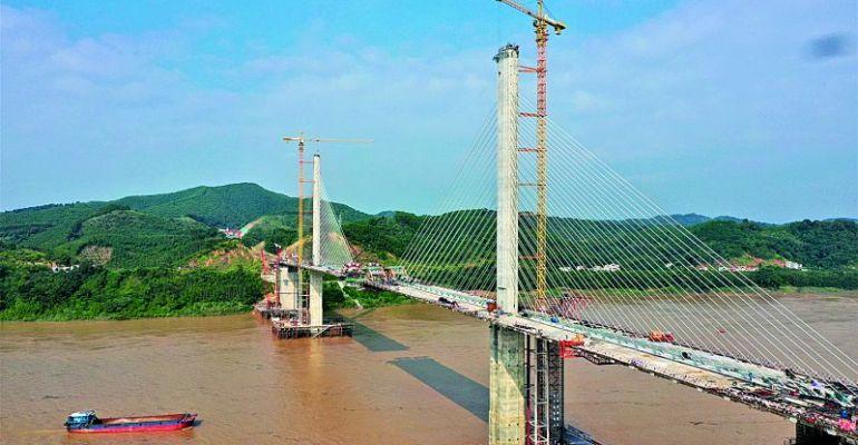 懷陽高速西江特大橋 進入主梁標準梁段收尾階段