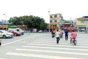 肇庆市民文明行为之十:无行人乱穿马路、翻越隔离栏现象 端州一路:文明斑马线 为城市加分