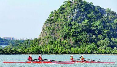全省青少年赛艇锦标赛星湖开桨