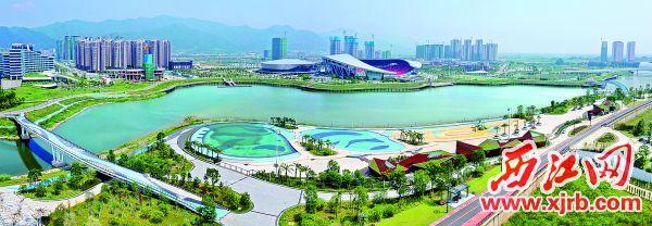 长利湖沙滩公园是肇庆新区打造旅游亮点、发展区域经济、提高居民幸福感的一项惠民工程。 西江日报记者 朱健兴 摄