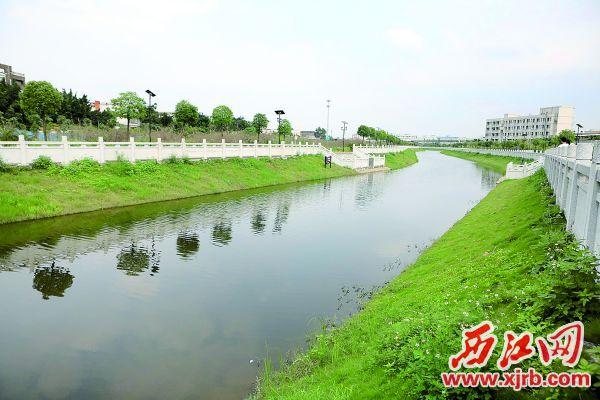 肇慶高新區獨水河生態修復工程令原來河水發黑、臭味彌漫的河道變成了集排澇、休閑、 觀賞于一體的水景渠,極大改善了周邊的生態環境。 西江日報記者 劉春林 攝