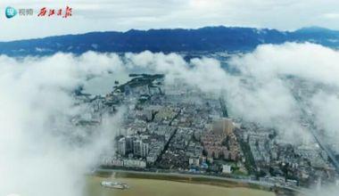 注册送68体验金雨后出现一片云海景观,美翻了!