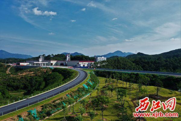 怀阳高速沿途的绿植景观。 通讯员供图
