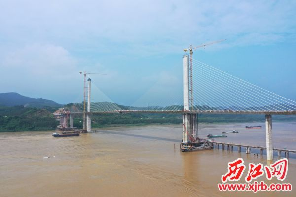 怀阳高速西江特大桥。 通讯员供图