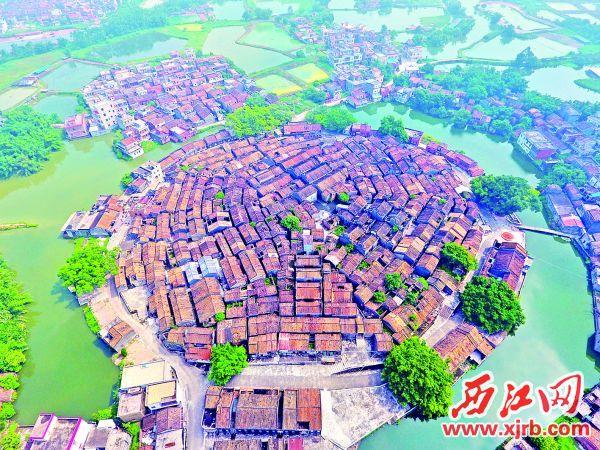 俯瞰高要黎槎八卦村。 充值100送18记者 刘春林 摄