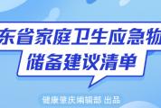 这个才是必备囤货清单 | 广东省家庭卫生应急物资,对着这个表买就对了!