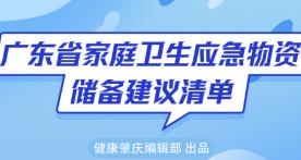 这个才是必备囤货清单   广东省家庭卫生应急物资,对着这个表买就对了!