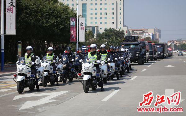 2018-02-08肇庆四会市公安局举行扫黑除恶专项斗争誓师大会