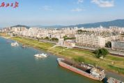 丽日蓝天下,全长10公里的沿江风景线跃然眼前!带你飞阅→