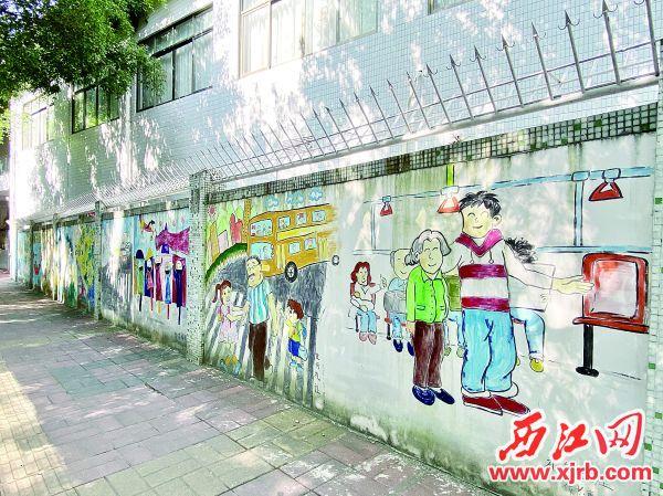 """高要集群众智慧创作而成的""""文明高要""""主题墙绘。"""