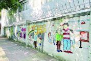 """肇庆城区老旧墙体""""穿新衣""""展现人文历史 特色墙绘""""绘""""出街头新风景"""