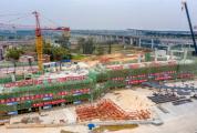 肇庆新区客运站主体结构封顶