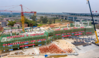 肇慶新區客運站主體結構封頂