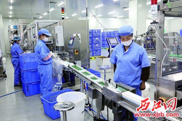 2月21日,廣東逸舒制藥股份有限公司加緊生產。 西江日報記者 梁小明 攝