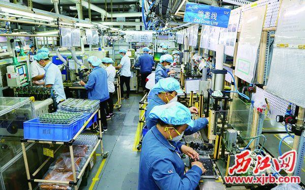 2020年2月21日,广东肇庆爱龙威机电有限公司复工生产,到岗率80%。 西江日报记者 梁小明 摄