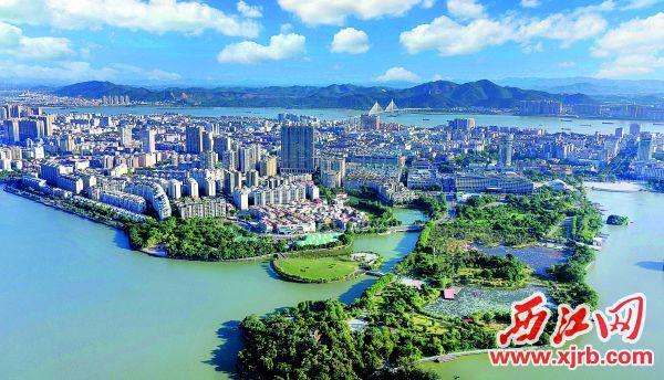 生態宜居的肇慶城區。 西江日報記者 曹笑 攝