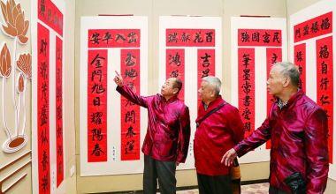 肇庆市首届规范春联书法作品展举行