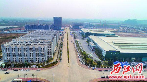 金利镇的广东汽车零部件产业园。 西江日报记者 梁小明 摄