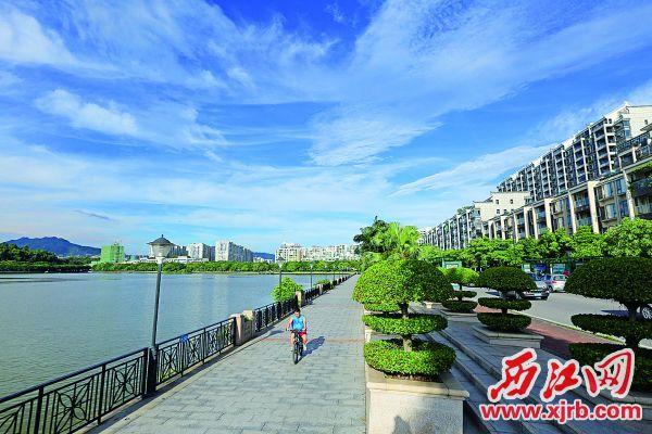 星湖碧道。 西江日报记者 刘春林 摄
