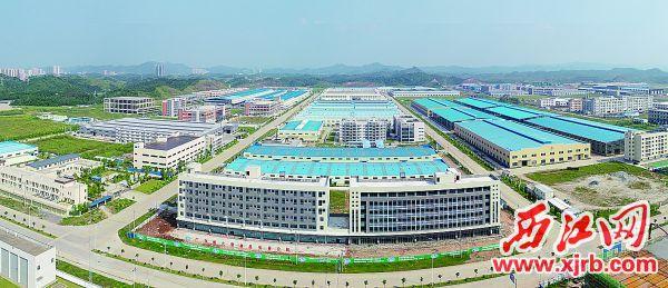 怀集工业园建设日新月异。 西江日报记者 梁小明 摄