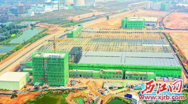 建设中的广东金田铜业高端铜业新材料项目。 西江日报记者 梁小明 摄