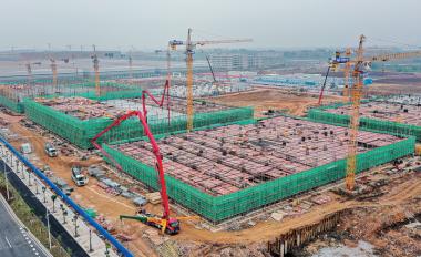 肇庆新区电子信息产业园加快施工