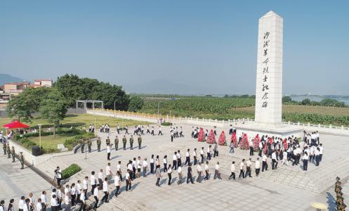 滔滔西江传星火 农军英豪树丰碑 ——拜访鼎湖区沙浦革命烈士纪念碑广场
