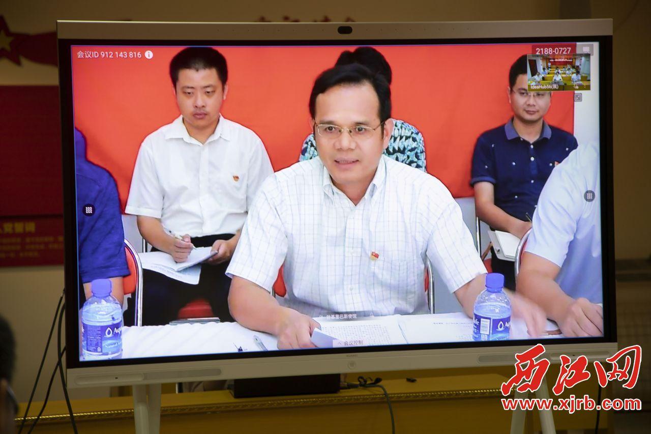 中国驻基里巴斯大使唐松根发表讲话。西江日报记者 杨乐祺 摄