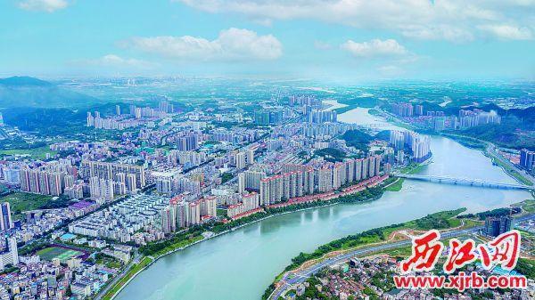 四会市以党建引领加快提升城市建设水平,打造大湾区高品质城市。 西江日报记者 曹笑 摄
