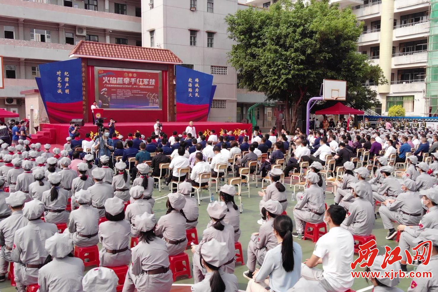 """""""火焰蓝牵手红军娃""""消防宣传进学校活动现场。通讯员 供图"""