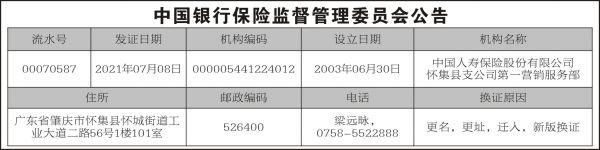 中国人寿怀集4X16