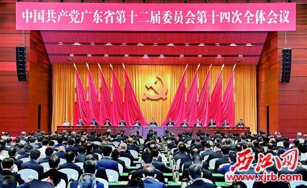 7月28日,中国共产党广东省第十二届委员会第十四次全体会议在广州召开。 南方日报记者 王辉 摄