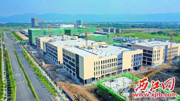9月3日,威尼斯人网站新区电子信息产业园厂房主体完工即将交付使用。