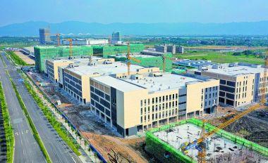 肇庆新区电子信息 产业园厂房主体完工