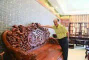 高要非物质文化遗产项目(大湾红木雕刻技艺)代表性传承人罗伟雄 传承红木工艺 自创独门技艺