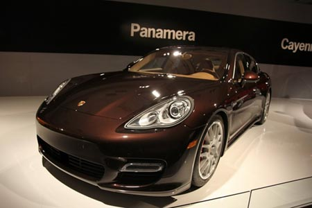 保时捷panamera洛杉矶车展实拍 高清图片